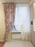 Фото штор в стиле прованс для кухни – занавески, кантри, ткань, из льна, своими руками, в детскую, готовые