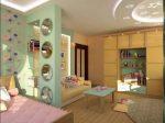 Фото спальня родителей и детская в одной комнате