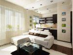 Фото студий маленьких – Оформление дизайна интерьера в маленькой квартире студии: фото варианты