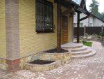Фото ступени на крыльце – ступеньки для частного кирпичного дома, наружные лестницы для загородного коттеджа, уличные ступени