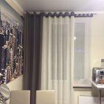 Фото занавески на кухне