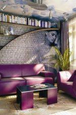 Фотообои кирпичная стена – модели с имитацией кирпичной кладки, примеры стены с обоями в виде белых и красных кирпичиков, интересные варианты в интерьере