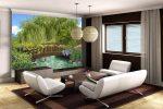 Фотообои в интерьере гостиной узкой – дизайн стен в интерьере квартиры, обои для зала, расширяющие пространство