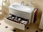 Габариты раковины – стандартные габариты умывальника для ванной комнаты, маленькие и модели необычно формы, ширина 80 и 120 см, глубина 40 и 50 см