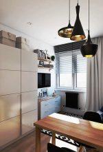 Гостиная дизайн 19 кв м – Компактный дизайн: гостиная-спальня, кухня-столовая, рабочий кабинет и отдельная ванная