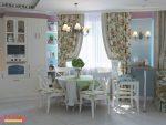 Гостиная кухня в стиле прованс фото интерьер – Кухня-гостиная в стиле прованс, интерьер кухни-гостиной, дизан-проект прованс стиль прованс, Нелля Галицкая, MoRo