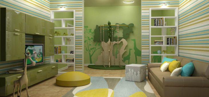 Гостиная с детской кроваткой – совмещенная планировка и зонирование на 18 кв. м, дизайн на две разные по назначению зоны, совмещение в однокомнатной квартире