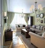 Гостиная в стиле неоклассики – Неоклассика в стиле гостиной. Гостиная оливкового цвета со светлой мебелью. Фото
