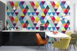 Графические обои для стен – Геометрические обои для стен, купить обои с геометрическим рисунком в Москве