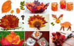 Идеи из осенних листьев – Осенние поделки из листьев для дома и детского сада: идеи, инструкции