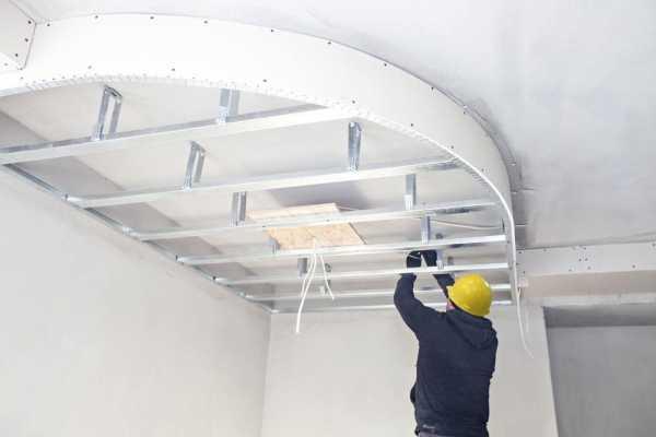 Выполняем потолок из гипсокартона