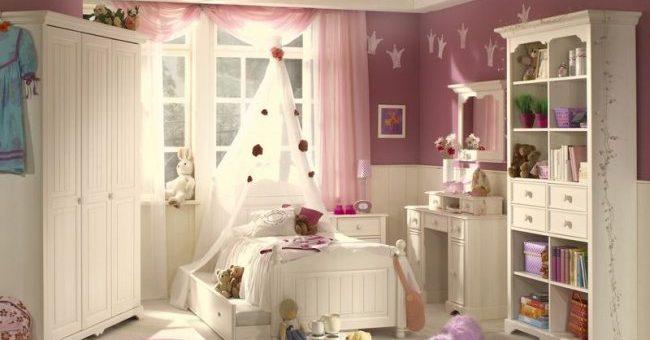 Интерьер детской комнаты для девочки маленькой