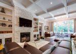 Интерьер гостиная в частном доме – дизайн зала в стиле «лофт» в загородном деревянном доме, оформление комнат