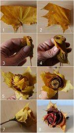 Как делать из кленовых листьев цветы – Как сделать цветы из кленовых листьев своими руками: пошаговая инструкция