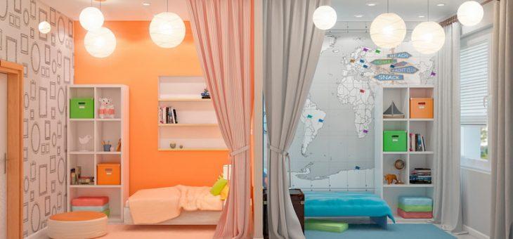 Как комнату разделить на две зоны для мальчика и девочки – дизайн фото, вместе, двухъярусная кровать, оформление зонирования, идеи мебели для подростков, интерьер