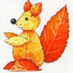 Как сделать из листьев белку – Осенние поделки своими руками вместе с детьми. Развиваем мелкую моторику ребенка. Поделки из осенних листьев. Картинки Делаем вместе с детьми аппликацию из осенних листьев. Аппликация из осенних листьев белка. – Домик в Интернете