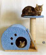 Как сделать своими руками место для кошки – варианты конструкции, из коробки, гофрокартона, как в магазине, необходимые материалы, пошаговая инструкция