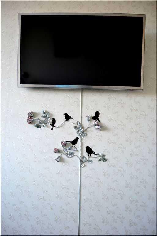как красиво убрать провода от телевизора фото особенности основные правила