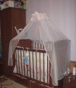 Как установить балдахин на детскую кроватку в картинках