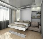 Как в однокомнатной квартире поставить кровать и диван фото – Диван или кровать в однокомнатной квартире? — диван для однокомнатной квартиры — запись пользователя Анастасия (id1077931) в сообществе Дизайн интерьера в категории Интерьерное решение гостиной