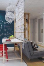 Как зонировать студию – как отделить кухню от гостиной комнаты стеклянной перегородкой и аркой, раздвижные системы для спальни