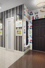 Какие обои лучше поклеить в прихожей фото – как правильно выбрать цвет и фактуру, какие изделия, зрительно увеличивающие пространство, подойдут для для узкого коридора в небольшой квартире