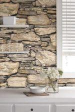 Каменные обои фото – декоративные отделочные материалы с каменным рисунком в интерьере, светлые фактурные покрытия в виде натурального и искусственного камня