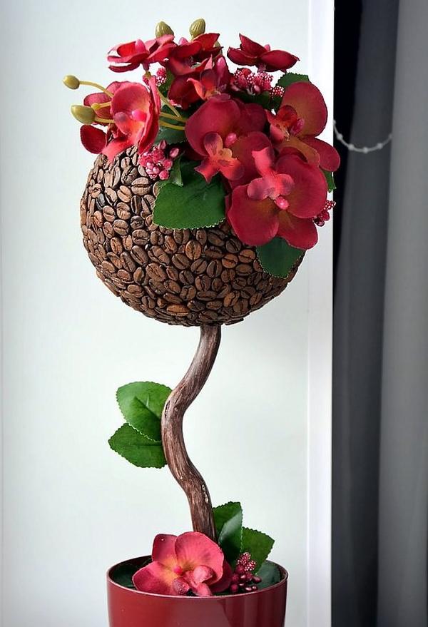 Деревья из цветов своими руками видео фото 336