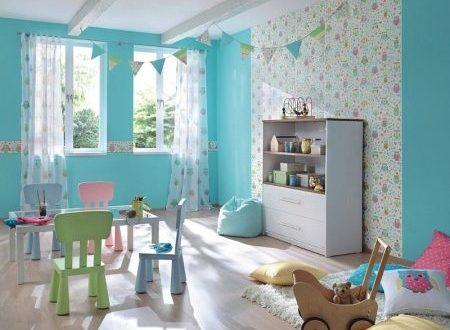 Комбинированные обои для детской комнаты – модели в комнату для стен в полоску, с динозаврами, для рисования, варианты в интерьере