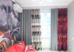 Комбинированные шторы для зала фото – Комбинированные шторы двух цветов и тканей, фото идеи дизайна для гостиной