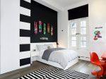 Комната черно белая детская – Чёрно-белая детская комната: интерьер в темно светлых тонах на фото |