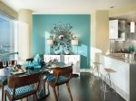 Комната в серо бирюзовых тонах – дизайн интерьера в цвете «бирюза», расстановка акцентов и сочетания с бежевыми и коричневыми оттенками