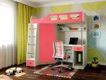 Кровать детская со вторым этажом – с рабочей и игровой зоной внизу, двухъярусная со столом, низкая с горкой, размеры и отзывы родителей