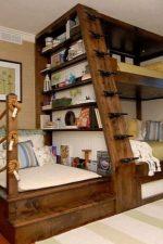 Кровать двухъярусная из дерева фото – как сделать деревянную двуспальную кровать из бруса, двухъярусная модель, из досок или из бревен, идеи