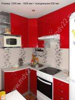 Кухни фото маленькие угловые с холодильником