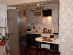 Кухни с барными стойками дизайн фото маленькие