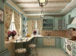 Кухни в стиле прованс картинки – дизайн интерьера, декор с открытыми полками, идеи для голубой, мятного цвета, видео
