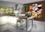 Кухня дизайн с фотообоями – Фотообои для кухни — 77 фото,в интерьере, дизайн , 3 д, на фартук, как выбрать, моющиеся, цена