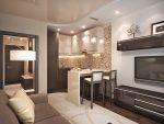 Кухня гостиная 24 кв м дизайн фото практичная – Кухня-гостиная 18 кв м дизайн фото: студия, квадратный интерьер, совмещенная планировка, проект спальни в зале