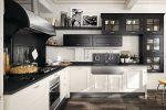 Кухня низ черный верх красный фото – Кухни светлый низ — темный верх: основы гармонии и контраста в интерьере