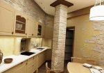 Кухня отделанная декоративным камнем фото – Отделка кухни декоративным камнем, деревом, плиткой и другими материалами
