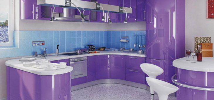 Кухня в лиловых тонах фото дизайн – дизайн интерьера лиловой кухни и гарнитура, фото идей оформления