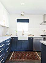 Кухня в синем цвете – особенности цвета, выбор правильного сочетания, фото дизайнов