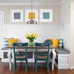 Кухонные зоны фото – интерьер, мягкая мебель, дизайн у окна, панно над столом, маленькой в саду, видео
