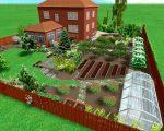 Ландшафтный дизайн на 10 сотках – Планировка участка 10 соток — схемы и примеры (50 фото): территории прямоугольной формы с домом, баней и гаражом, интересные варианты
