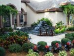 Ландшафтный дизайн перед домом участка – украшение ландшафта на территории таунхауса своими руками, простой декор хвойными растениями в современном стиле