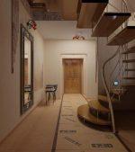 Лестница на 2 этаж в прихожей