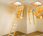 Лестница на второй этаж выдвижная