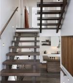Лестницы двухмаршевые на второй этаж в частном доме – с площадкой на второй этаж, фото размеров, из металлопрофиля, чертеж и рассчет, с поворотом на 180, П-образная с промежуточной в частном