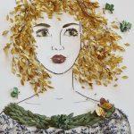 Лицо девушки для поделки из листьев – Поделка на тему Осень. Девушка из листьев. Идеи, фото, мастер-класс?